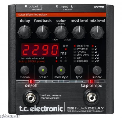 Delay effect pedal